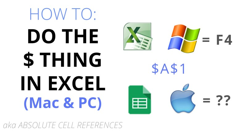 How to do the $ thing in Excel Tutorial Video