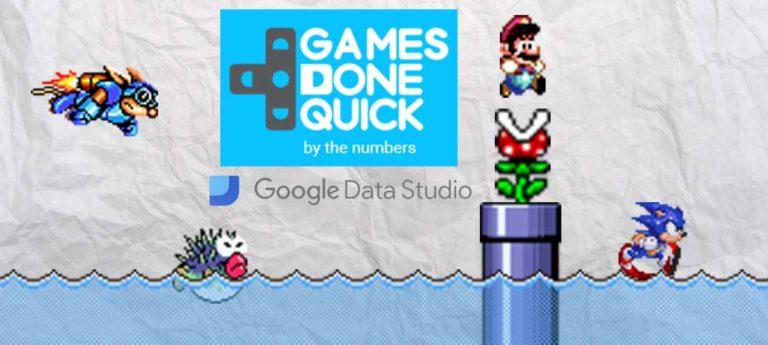 Games Done Quick donations dashboard – Google Data Studio