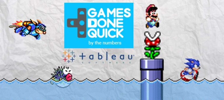 Games Done Quick donations dashboard – Tableau