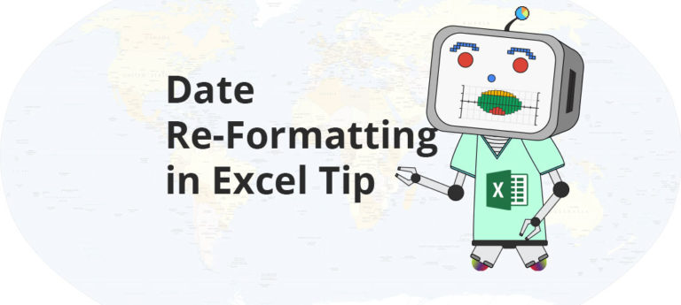 Date Re-Formatting in Excel Tip