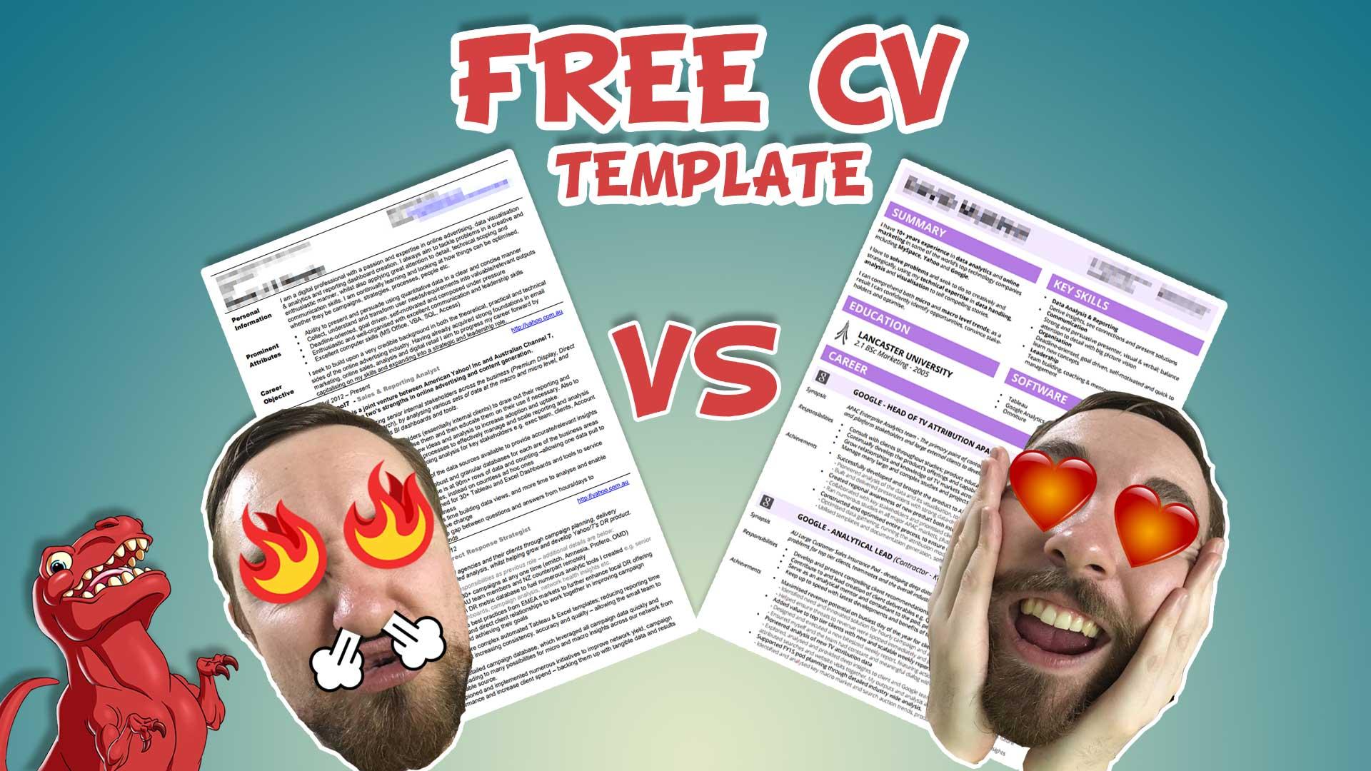 your cv resume data viz win datasaurus rex