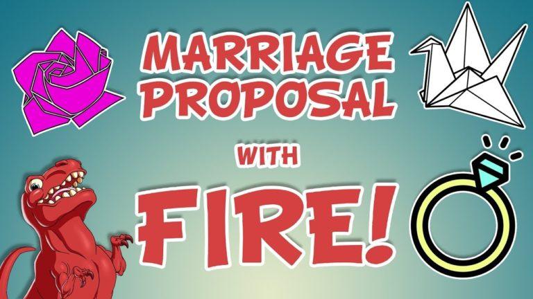 Wedding Proposal w/ Flash Paper!