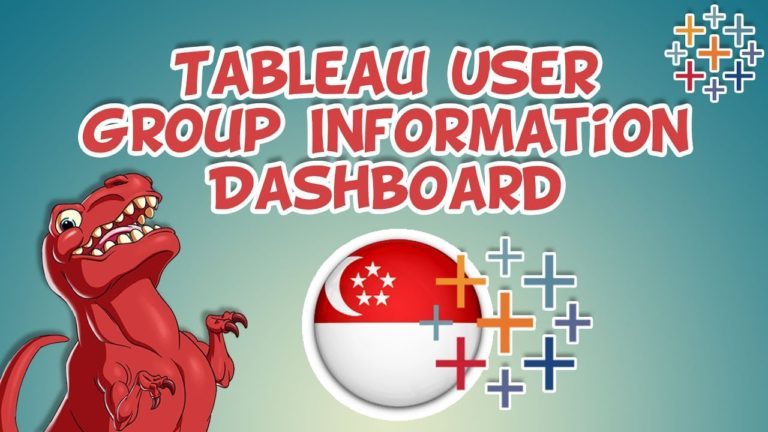 SG Tableau User Group Information Dashboard