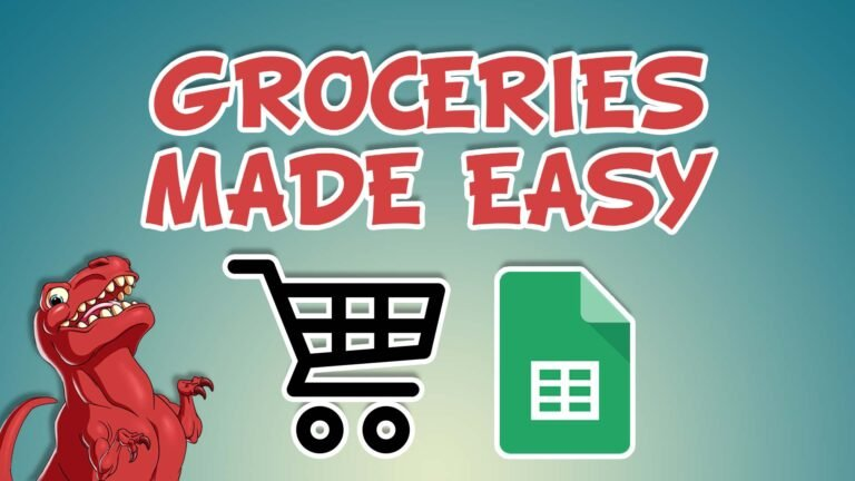 Groceries made easy using Google Sheets